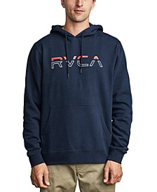 Men's Split Pin Fleece Logo Hoodie