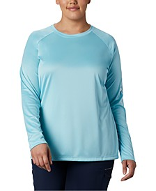 Plus Size Long-Sleeve SPF Top