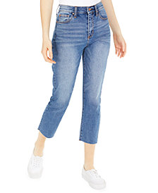 Celebrity Pink Juniors' Cropped Straight-Leg Jeans