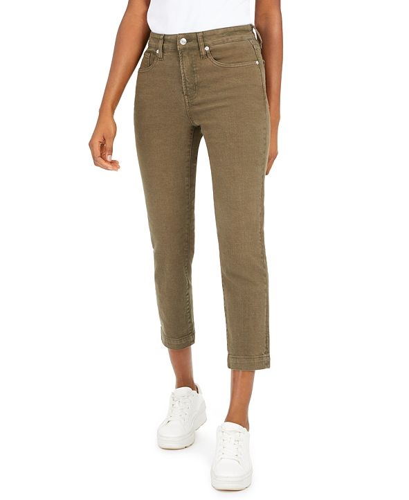 OAT High-Rise Cropped Straight-Leg Jeans