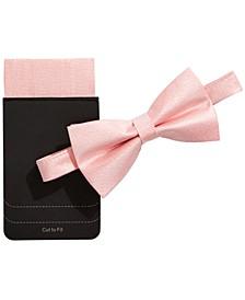 Men's Shimmer Bow Tie & Pocket Square