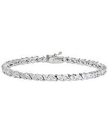 Cubic Zirconia Marquise Tennis Bracelet in Sterling Silver, Created for Macy's