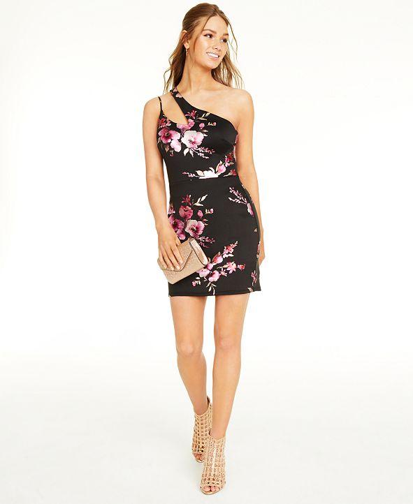 B Darlin Juniors' One-Shoulder Dress