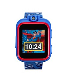 Kids PlayZoom DC Comics Superman Symbol Strap Touchscreen Smart Watch 42x52mm
