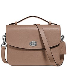 Cassie Crossbody In Polished Pebble Leather