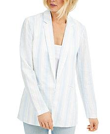 INC Striped Linen Blazer, Created for Macy's
