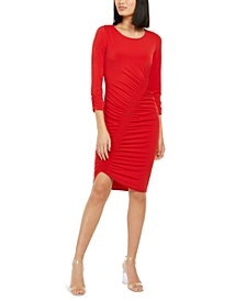 INC Smocked Asymmetrical Midi Dress, Created for Macy's