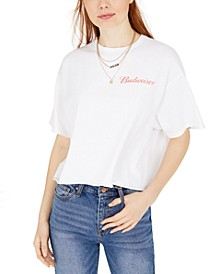 Cotton Cropped Graphic T-Shirt