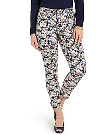 Petite Floral Printed Bristol Skinny Ankle Jeans, Created for Macy's