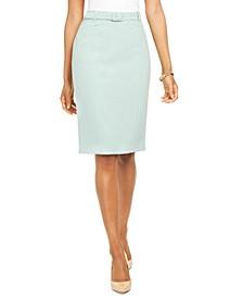 Belted Knee-Length Skirt