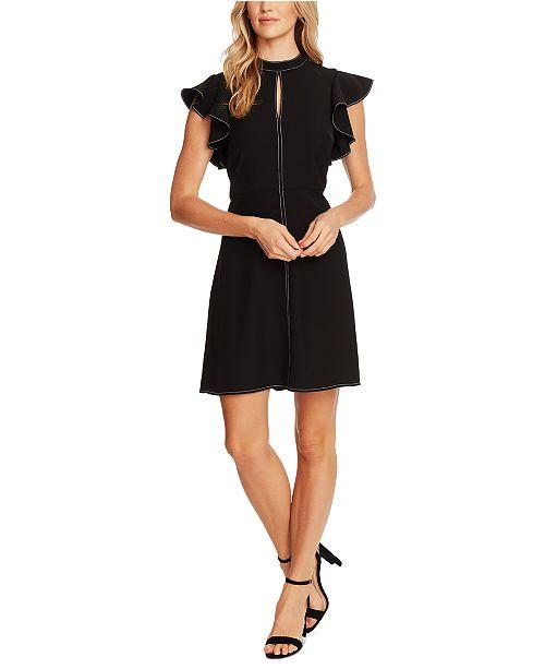 CeCe Mock-Neck Tie-Sleeve Dress