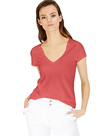 INC Cotton V-Neck T-Shirt, Created For Macy's