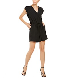 INC EARTH V-Neck Utility Romper, Created for Macy's
