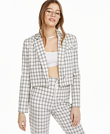 Plaid Cropped Jacket, Created for Macy's