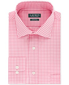 Men's Classic/Regular-Fit Non-Iron UltraFlex Stretch Performance Gingham Check Dress Shirt