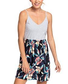 Juniors' Beach Story Floral-Print Tank Dress