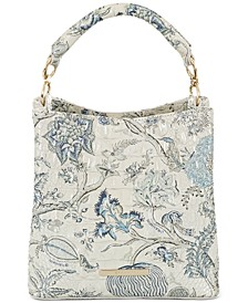 Melbourne Embossed Leather Amelia Bucket Bag