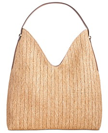 INC Bonniee Straw Hobo, Created For Macy's