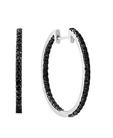 Black Diamond (1 3/8 ct. t.w.) Earring in 14K White Gold