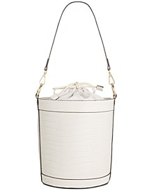 INC Ajae Croco-Embossed Bucket Bag, Created for Macy's