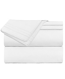 Premier 1800 Series 4 Piece Deep Pocket Bed Sheet Set, King