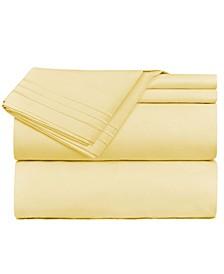 Premier 1800 Series 4 Piece Deep Pocket Bed Sheet Set, Queen