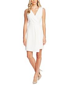 Surplice-Neck Asymmetrical-Hem Dress