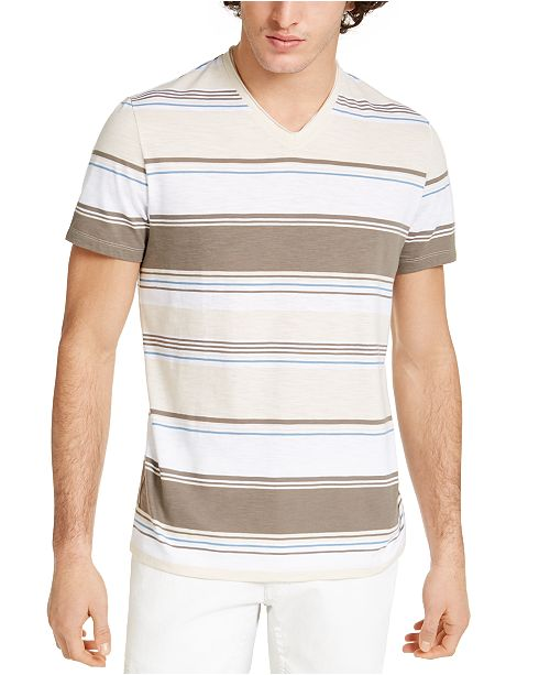 INC International Concepts INC Men's Marcus Striped T-Shirt, Created For Macy's