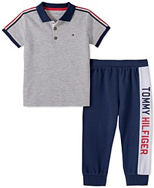 Baby Boys 2-Pc. Shirt & Colorblocked Jogger Pants Set