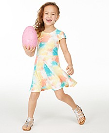 Little Girls Tie-Dye Fit & Flare Dress, Created for Macy's