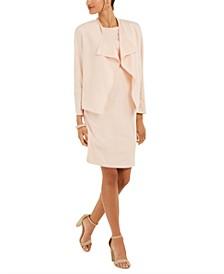 Shawl-Collar Jacket And Crepe Sheath Dress
