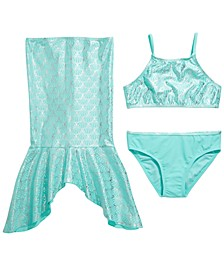 Big Girls 3-Pc. Mermaid Tails Bikini & Skirt