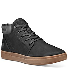 Men's Davis Square Leather Collar Chukka Shoes