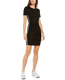 Logo-Trim Shift Dress