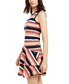 Striped Flounce Dress, Regular & Petite