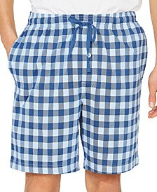 Men's Cotton Buffalo Plaid Pajama Shorts
