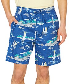 Men's Cotton Printed Pajama Shorts