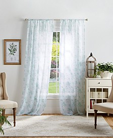 Martha Stewart Bellefield Floral Curtain Collection