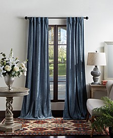 "Martha Stewart Naples Chenille 50"" x 95"" Back Tab Curtain Panels"