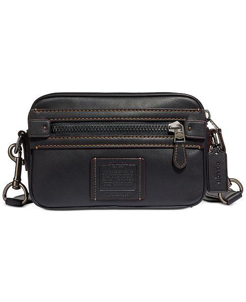 COACH Men's Academy Leather Crossbody Bag