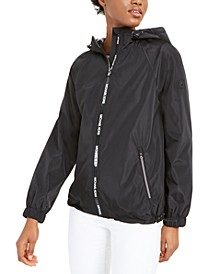 Hooded Water-Resistant Windbreaker Jacket