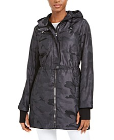 Hooded Water-Resistant Camo Jacket