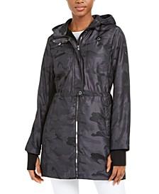 Hooded Camo-Print Jacket