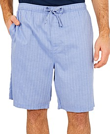 Men's Sleepwear, Blue Herringbone Short
