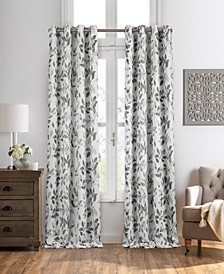 "Avalon Botanical Print 52"" x 95"" Blackout Curtain Panel"