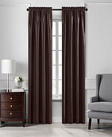 """Colette 52"""" x 95"""" Faux Silk Blackout Curtain Panel"""