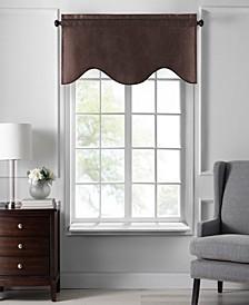 "Colette Faux Silk Scalloped Window Valance, 50""x21"""