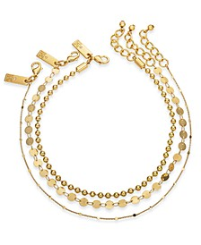 INC Gold-Tone 3-Pc. Set Chain Anklets, Created For Macy's