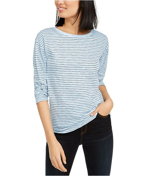 Lucky Brand Essential Striped Long-Sleeved T-Shirt
