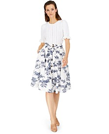 INC Pointelle-Stitch Top & Toile Midi Skirt, Created for Macy's